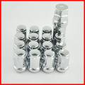 16 Pieces 12x1.25 Tuner Wheel Locking Kit Acorn Style Lug Nuts Key FORGED CLOSED ENDED aluminum Conical Seat Wheel nuts