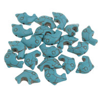 Turquoise Beads Fashion Dolphin 20 29mm Blue Hole Approx 1mm Sold By Bag