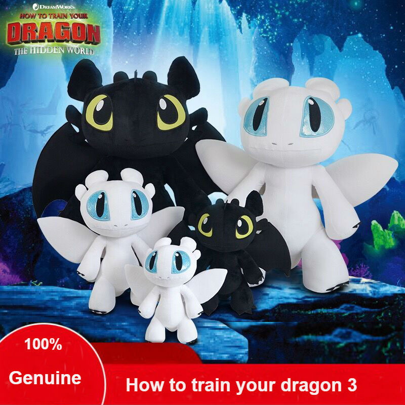 2019 Hot Genuine How to Train Your Dragon 3/18-40cm Toothless plush Night Fury Plush stuffed animal doll toy kids Christmas gift2019 Hot Genuine How to Train Your Dragon 3/18-40cm Toothless plush Night Fury Plush stuffed animal doll toy kids Christmas gift
