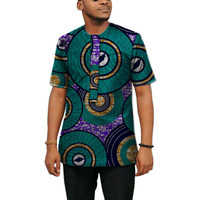African Clothes Fashion Men Tops Summer Short Sleeve Ethnic Style Tees T Shirt African Clothes Customized