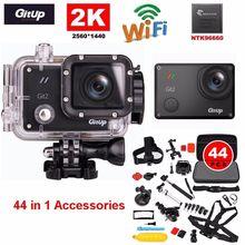 Envío gratis! Gitup Git2 Pro WiFi inalámbrico 2 K Helemet se divierte la cámara DV + 44 in1 Kit de accesorios