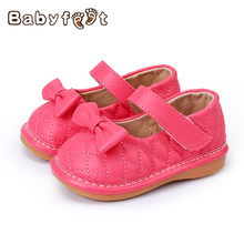 Hot Sale The New Fashion Style Baby First Walkers Girls Princess Shoes Breathable Non-Slip Wear Soft Bottom Bow Decoration