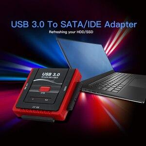 Image 2 - USB 3.0 כדי SATA/IDE מתאם כונן קשיח ממיר מתאם עבור אוניברסלי 2.5/3.5 HDD/SSD קשה כונן דיסק עם אספקת חשמל
