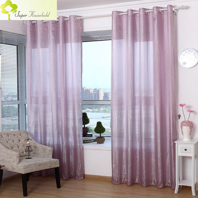 Modern Tulle Curtains For Living Room Kitchen Voile Bedroom Sparkle Window Fabric Sheer Curtain