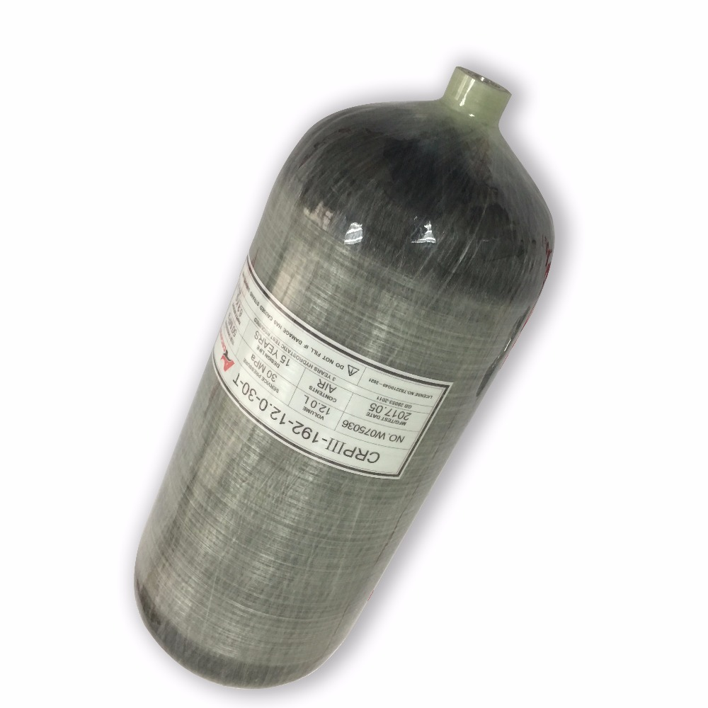 AC3120 Gas Cylinder Paintball Tank 12L 4500 Psi Composite Carbon Fiber Cylinder For Airsoft Air Guns Airforce Condor Acecare