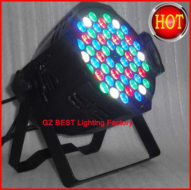 18pcs/lot colorful par light led rgbw 54X3W par can wash lighting with DMX 8 channels double brackers, with power in power out купить
