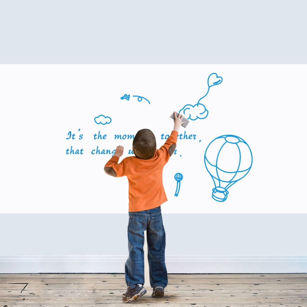 45*60cm Writable Erasable White Board Wall Sticker For Kids Bedroom Office Room Removable Self Adhesive Draw Board Wall Stickers