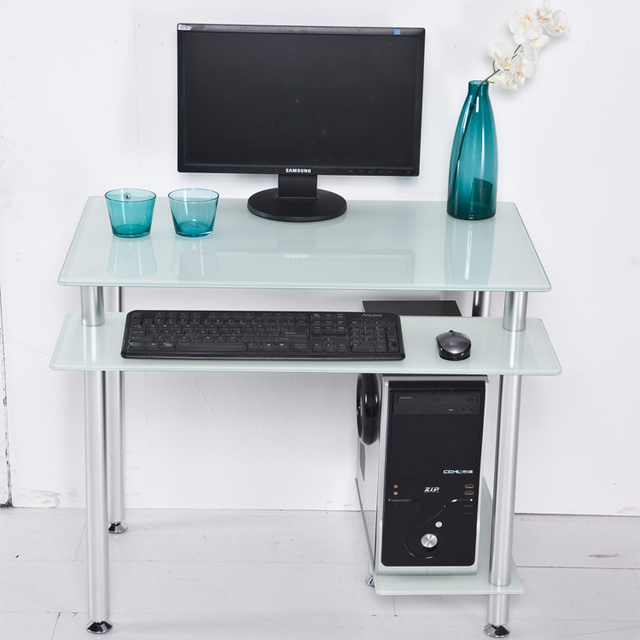Minimal Computer Desk desktop computer desk home desktop table glass minimalist corner