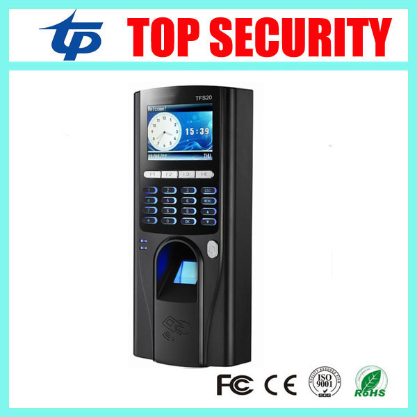 Free shipping biometric fingerprint access controller TCP/IP fingerprint door access control reader optional RFID card reader tcp ip biometric face recognition door access control system with fingerprint reader and back up battery door access controller