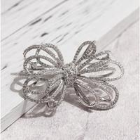 2019 new exquisite Korean Simple Bow Brooch Elegant Temperament Two Color Brooch For Women High End Jewelry