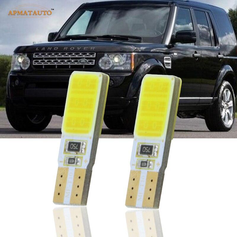 2x T10 W5W LED Side Parking Lights Marker Lamps Bulb For Land Rover Discovery Range Rover Evoque Freelander Defender