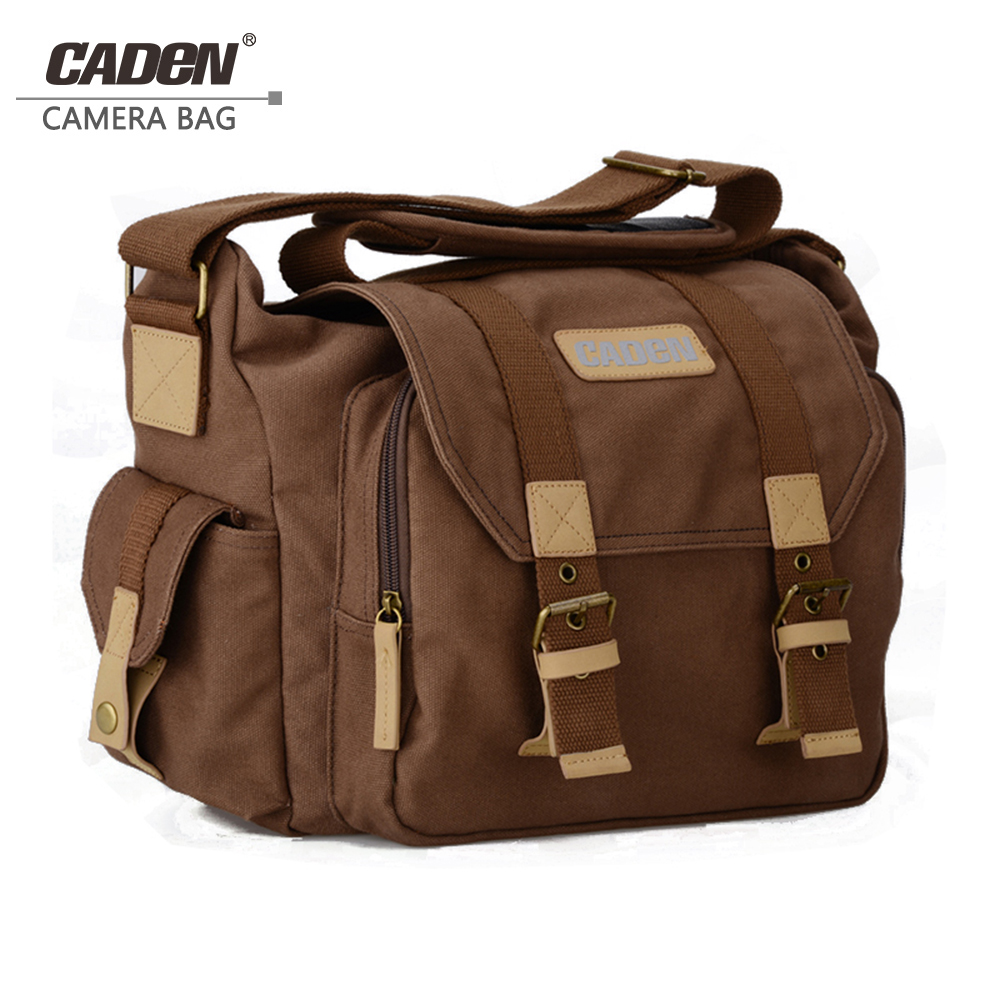 Caden vintage Camera Bag Shoulder Protective Cases DSLR Photo bags for Canon Nikon Sony Pentax canvas sling camera bag