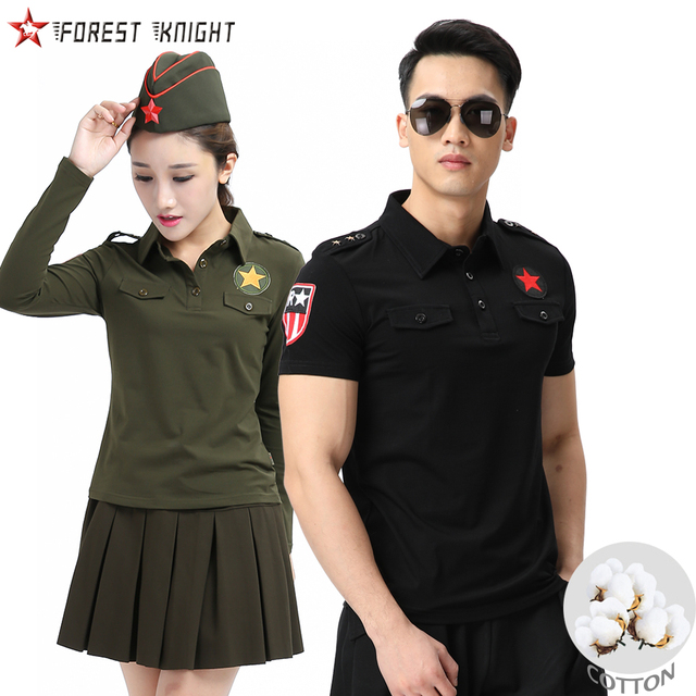 Cotton  T shirt Men Black Army Green Outdoor Camping Trekking Military Tactical Tops Tee Women Men Couple T-shirt Lovers