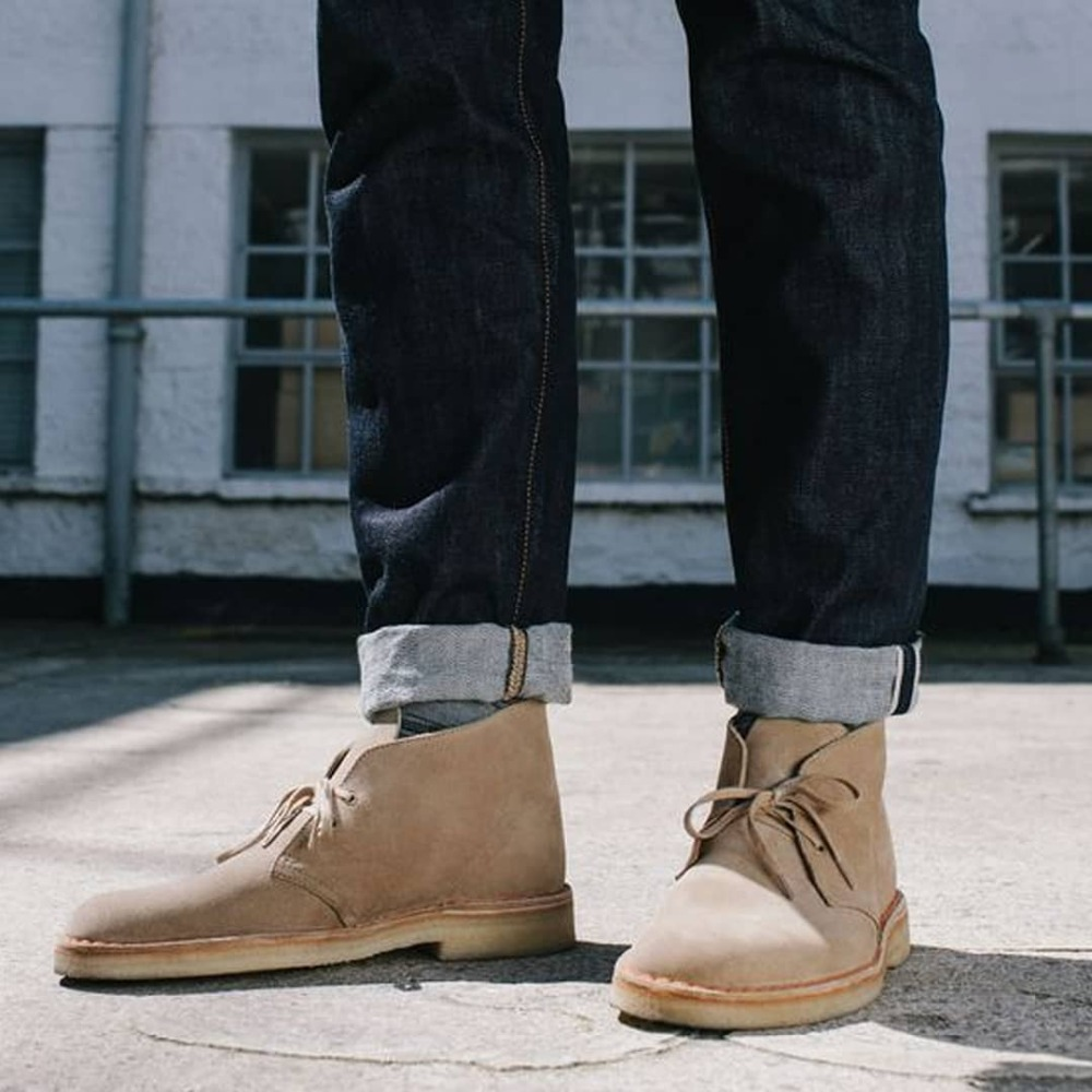 2019 Retro Suede Leather Desert Boots for Men British Style Lace up Shoes Men Ankle Boots