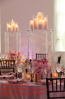 New square acrylic crystal wedding table centerpiece cake stand flower holder flower stand