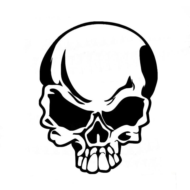 Human Skull Vinyl Decal Sticker Window Wall Car Bumper Laptop Skeleton White Jdm