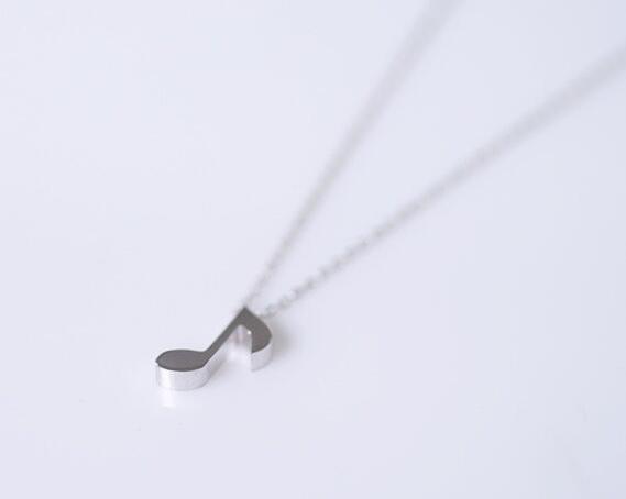 Jisensp 2019 New Necklace Fashion Necklace Notice Music Necklaces Pendants for Women Design Unique Collier Cute largos de moda