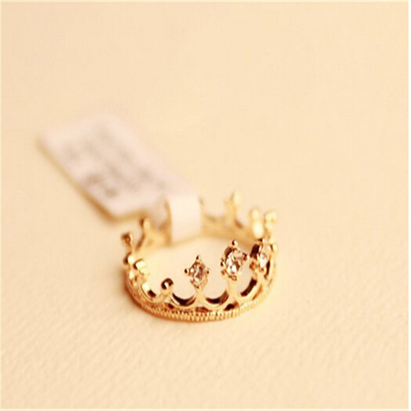 Hot-selling Ring Women New Fashion Flash Drill Crown Ring Jewelry Shiny Elegant Beauty High Quality Jewelry Finger Ring