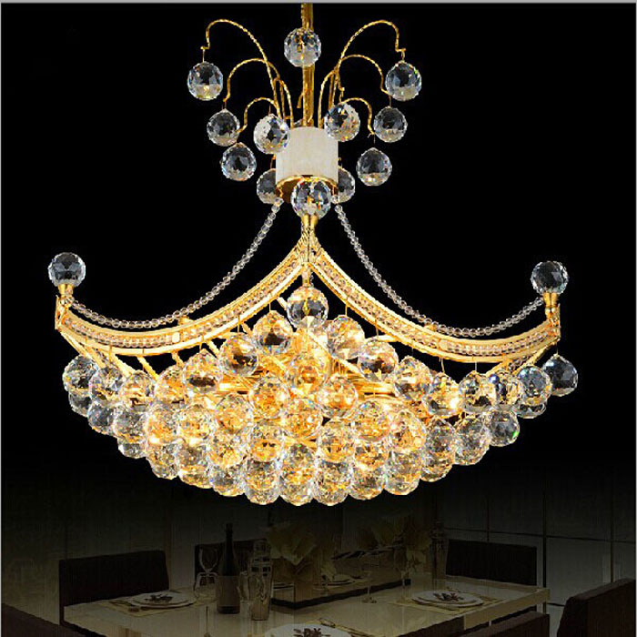 Modern sailing ship Golden led lamps Crystal Chandelier for dining room bedroom, study aisle simple fashion lighting fixture gold color simple brief 5w crystal chandelier led lamp for home aisle meeting room bar cloth shops 5w chandelier 6000k 2800k