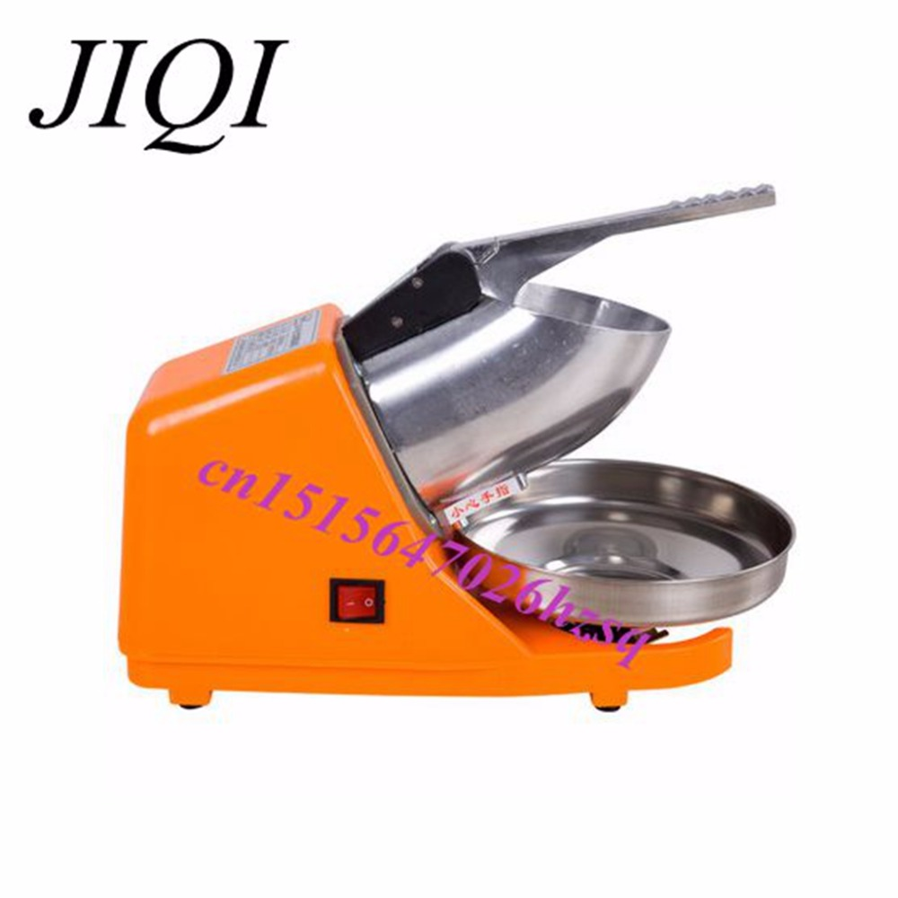 JIQI Manual  Electric ice crusher Milk tea Mute snowflake Ice machine high speed Commercial Household High Power Smoothies