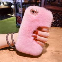 Bling Hot Winter Warm Soft Comfort Fake Fur Rabbit S Hair For Xiaomi Redmi Note 2
