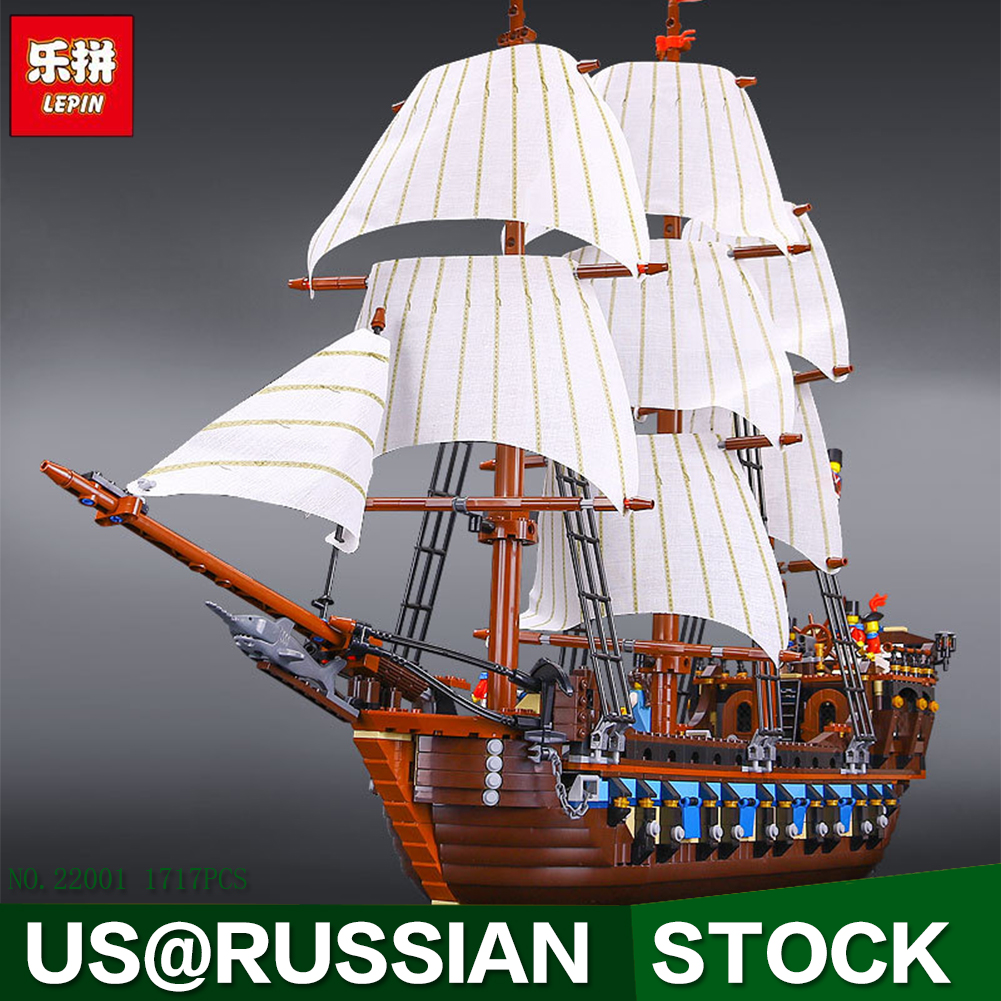 NEW LEPIN 22001 Pirate Ship Imperial warships Model Building Kits Block Briks Boy Toys Gift 1717pcs Compatible 10210
