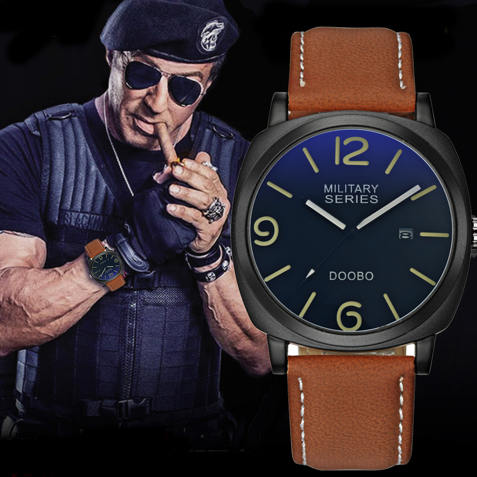 2018 DOOBO Fashion Casual Mens Watches Top Brand Luxury Leather Business Quartz-Watch Men Wristwatch Relogio Masculino Saat tevise fashion casual mens watches top brand luxury business automatic mechanical watch men wristwatch relogio masculino
