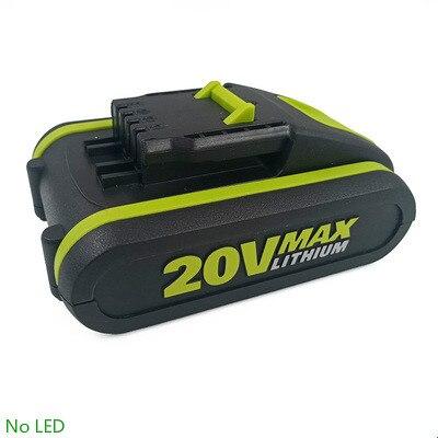 Meilleure batterie 20V 3500mah Li-ion pour outil électrique Worx WX390/WX176/WX166.4/WX372.1 WX800/WX678/WX550/WX532/WG894E WG629E/WG329E/WG2