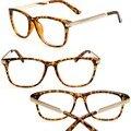 Retro Mujeres de Acero Pierna Marco Óptico Marcos de Las Lentes Lente Transparente Gafas de Miopía