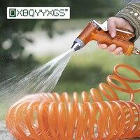 10 20m Spring telescopic hose water gun kits Garden High pressure Hose nozzle Home Watering flowers Car Wash clean tool