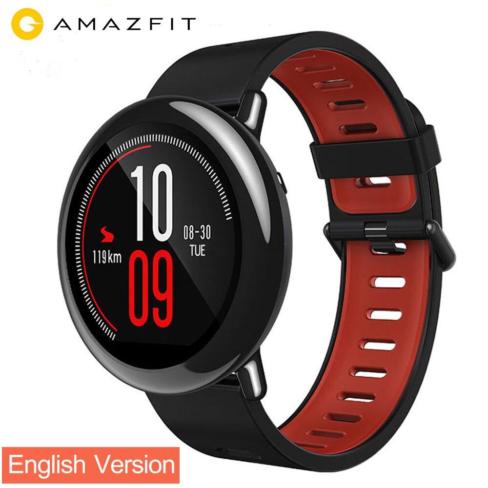 Version anglaise Xiaomi Huami montre AMAZFIT Pace montre sport intelligente moniteur de fréquence cardiaque pour Android IOS Bluetooth 4.0 GPS Original