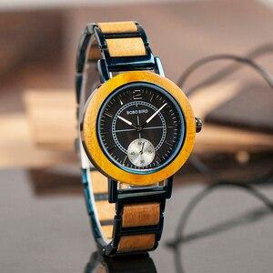 Image 3 - BOBO BIRD montre pour amoureux, luxe, bracelet en bois pour Couple élégant et de qualité, combinaison de couleur spéciale, K R12