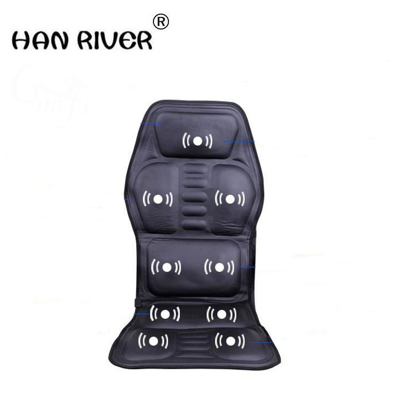 Household car multifunctional massage cushion for leaning on of seat heating cervical back hip car massager + the gauge plug st0401 car seat cushion heating switch black
