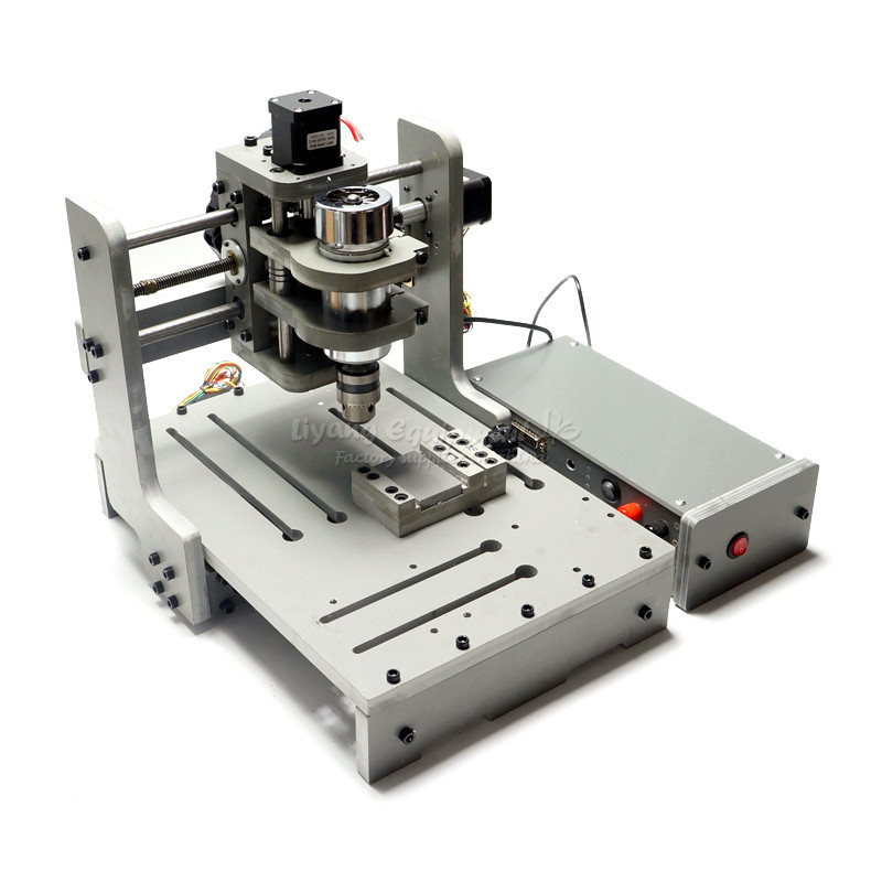 MINI 3axis Cnc Machine Mach3 Control 300w Spindle For Wood Pcb Engraving