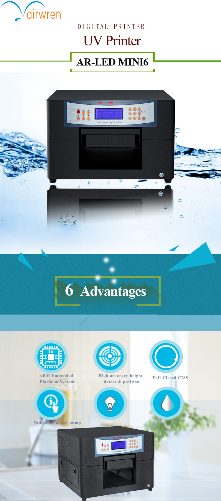 3D Digital UV Printer for Wood-Hot Sale-1