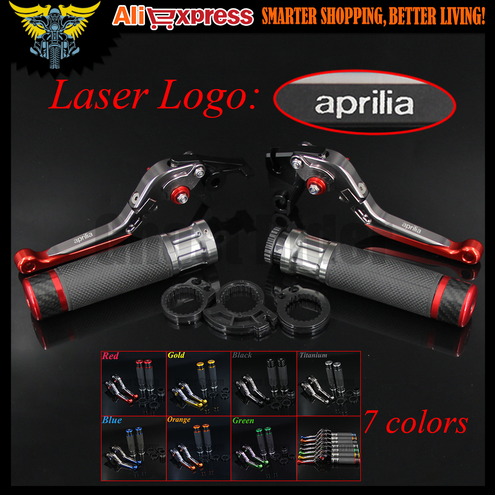 7 Colors Motorcycle CNC Brake Clutch Levers and Handlebar Hand Grips For Aprilia CAPONORD / ETV1000 RST1000 FUTURA