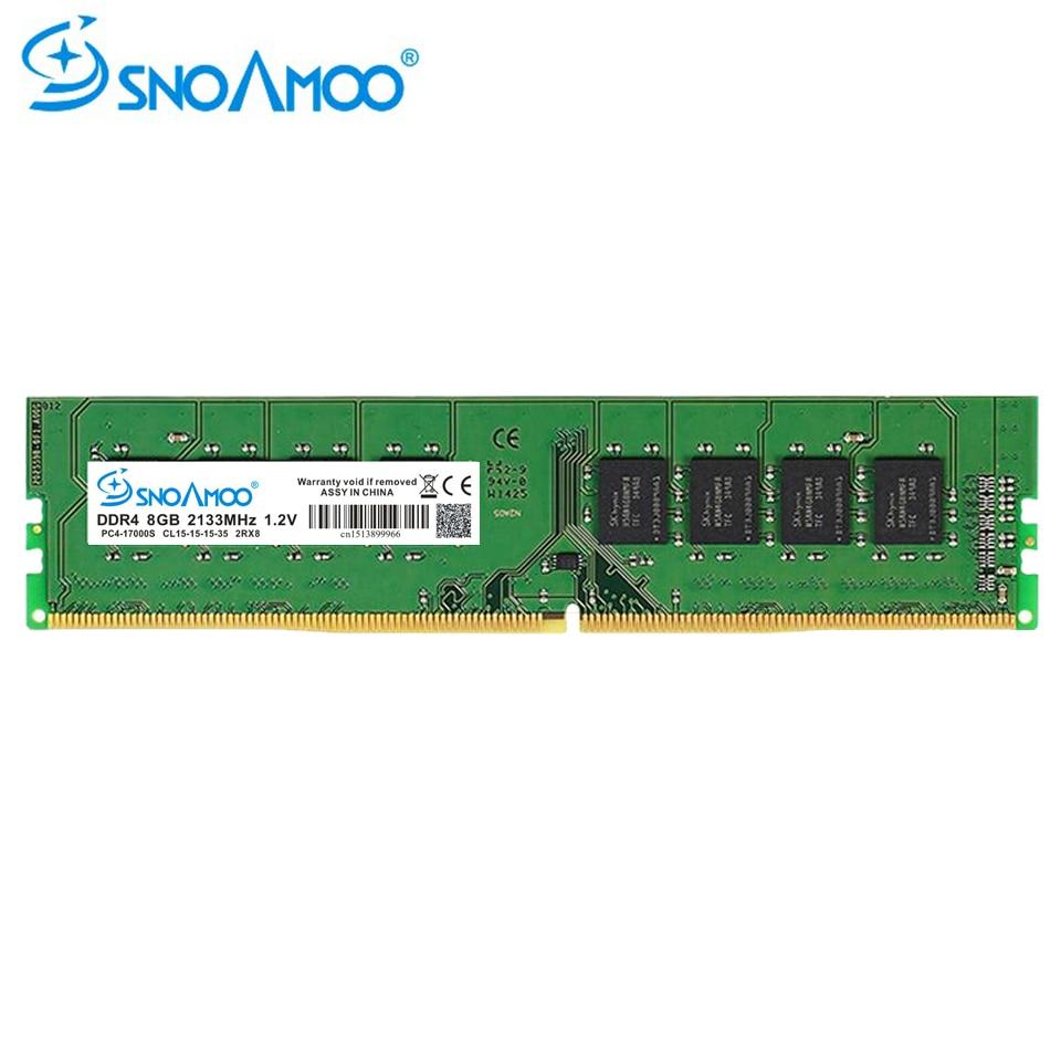 купить SNOAMOO DDR4 Desktop PC RAMs 8GB 2133MHz CL1516 PC4-17000S 1.2V 2Rx8 288-Pin DIMM For Intel ARM Computer RAMs Lifetime Warranty по цене 2905.95 рублей