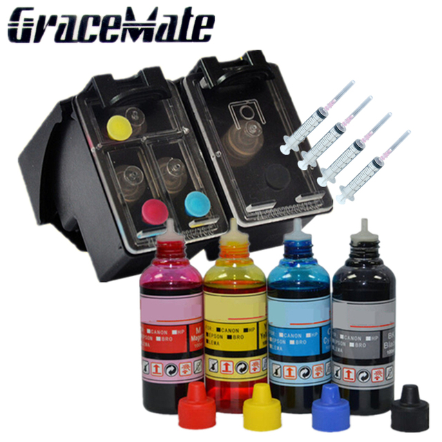 Replacement For HP 21 22 refillable ink cartridge + 400ml refill ink for HP Deskjet 3915 1530 1320 1455 F2100 F2180 F4100 F4180
