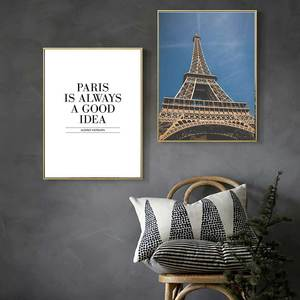 Image 1 - 現代都市パリ風景プリントポスター北欧パリ引用キャンバス絵画リビングルームのホームインテリアアート写真