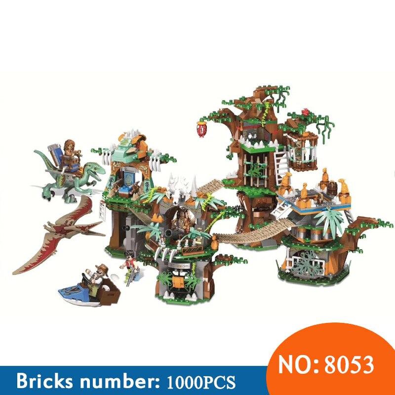 Winner NEW 8053 1000pcs Jurassic World Dinosaur Tribe Building Blocks Toys For Children