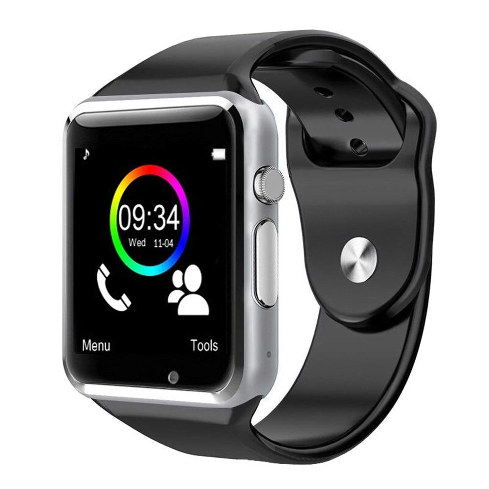 A1 Smart Watch Bluetooth Dialer Call Reminder Wristwatch SIM Card Camera LCD Touch Screen Rubber Band For Men Women Children ...