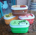 Alta Qualidade Dos Desenhos Animados Caixas Bento Lunch Box 600 ml de Plástico Recipiente de Alimento Saudável Louça Lancheira Talheres com Pauzinhos