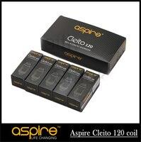 5 sztuk/10 sztuk 100% oryginalny aspire 0.16ohm cleito 120 cewki wymiana głowicy cewki e-papieros cewki dla aspire cleito 120 zbiornik