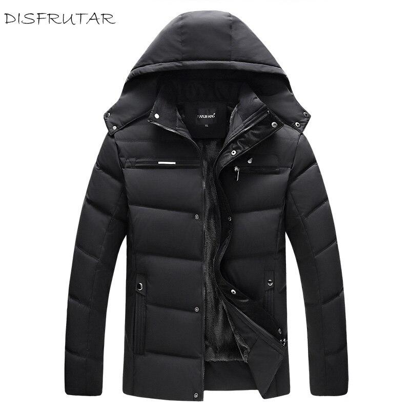 겨울 따뜻한 오리 자켓 2018 남자 캐주얼 편안한 패션 솔리드 울 라이너 코트 자켓 3 색 L 4XL-에서다운 재킷부터 남성 의류 의  그룹 1