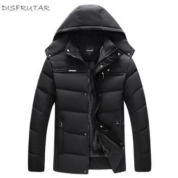 Winter Warm Duck Down Jacket 2018 Man Casual Comfortable Fashion Solid Wool Liner Coat Three Colors L-4XL - discount item  37% OFF Coats & Jackets