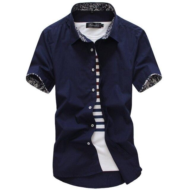 MarKyi 2017 קיץ קצר שרוול פרחוני חולצות גברים בתוספת גודל 5xl slim fit מקרית חולצה חברתית גברים באיכות טובה