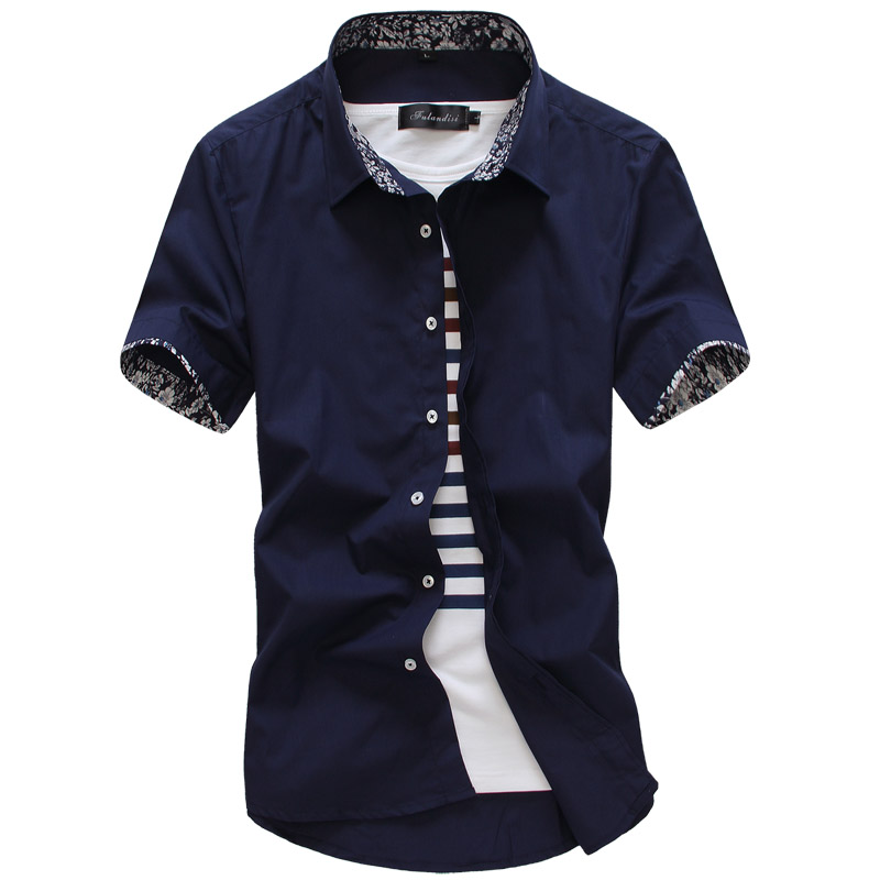 MarKyi 2017 Summer Short Sleeve Floral Mens Dress Shirts Plus Size 5xl Slim Fit Casual Social Shirt Men Good Quality