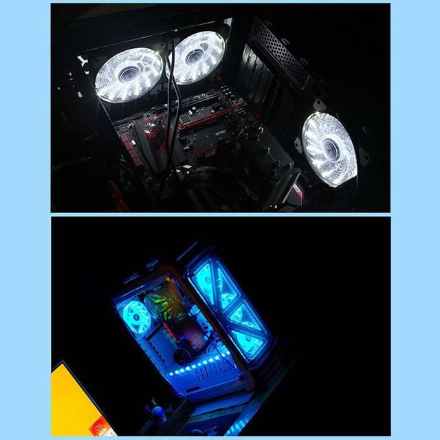 New 12cm Ultra Silent LED Case Fans 4