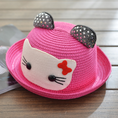 Free shipping spring and summer baby hat 1 2 4 years old child sun shading  strawhat princess summer hat-in Hats   Caps from Mother   Kids on  Aliexpress.com ... 5abb28713ccf
