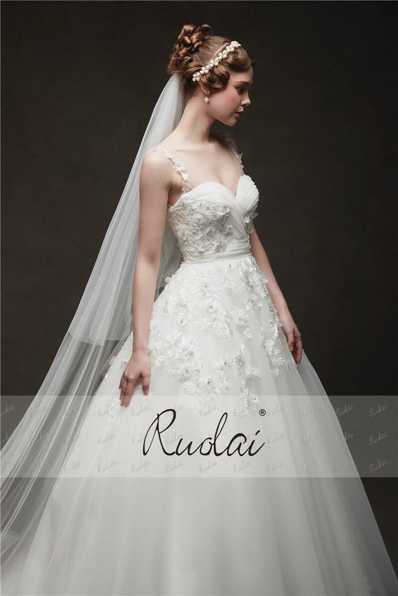 Ivory Wedding Dresses 2019 Long Sweetheart Princess Ball Gown Wedding Gown 3D Flower Beaded Bridal Gown Vestido de Noiva RW23